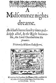 A Midsummer Night's Dream 1600 title page